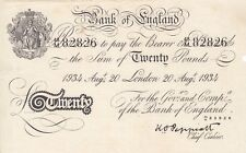 Nazi WW2 Operation Bernhard Judaica Bank of England white note 20 pounds P-337