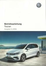 VW TOURAN 2 Betriebsanleitung  2016 2017 Bedienungsanleitung Handbuch  BA