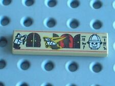 LEGO Egypte Tan Tile 1x4 with Hieroglyphs ref 2431px4 / 2996 5958 5938 5988 5978