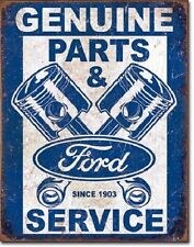 Genuine Ford Pistons Parts & Service Tin Sign vintage garage metal poster 2068