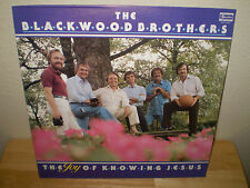 "THE BLACKWOOD BROTHERS...""THE JOY OF KNOWING JESUS""...""AUTOGRAPHED""....GOSPEL LP"