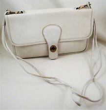 1960's COACH BONNIE CASHIN White Leather 2-Sided Bag Detachable Shoulder Strap