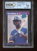 Ken Griffey Jr. RC 1989 Donruss #33 Mariners HOF Rookie GEM MINT 10