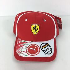 Puma Ferrari Scuderia Sebastian Vettel Mens Cap Hat Adjustable Racing 02153701