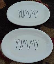 Rae  Dunn Pottery YUMMY  Oval  Plate