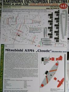 "Kartonmodellbaubogen Mitsubishi A5M4 ""Cloude"" / KARTONOWA ENCYKLOPEDIA / Nr. 143"