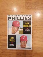 1964 TOPPS #561 RICK WISE DAVE BENNETT Phillies ROOKIE STARS EXMT Set Break RC