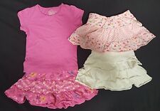 Girls The Children's Place Jumping Bean Faded Glory Lot of 4 Pink Top Skirt Sz 3