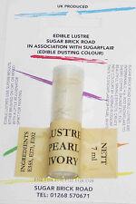 Sugarflair Pearl Ivory Lustre Dust Powder 7ml Edible Sparkly Food Colour Tint