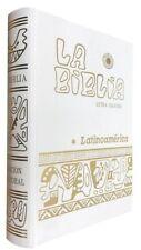 La BIBLIA LATINOAMERICA LETRA GRANDE Blanca Pasta Dura Latinoamericana Catolica
