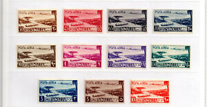 Italy Stamps 1950  Somalia Series Comlpete Sass.1 / 11 P.Aerea   MLH Very Fine