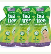 3 Packs x Beauty Formulas Australian Tea Tree Peel Off Mask - 50ml x 3