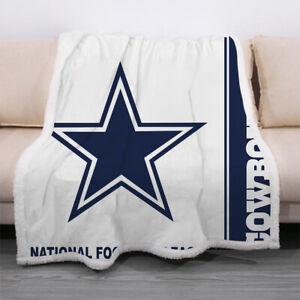 Dallas Cowboys Throw Blanket Plush Sofa Bed Sherpa Fleece Blanket Fan's Gift