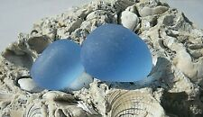 Sea Glass, Two Large Sky Blue Bobbles