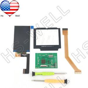 US GBA SP IPS Game Boy Advance SP High Light Backlight Brightness LCD Screen kit
