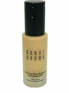 Bobbi Brown Skin Long-Wear Weightless Foundation1oz WARM SAND HAS BEEN PUMPED