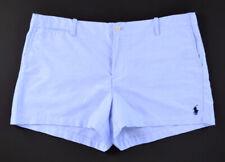 NWT POLO RALPH LAUREN Blue 100% Cotton Classic Short Shorts ~ Women's Size 14