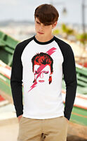 DAVID BOWIE Men Long Sleeve T-Shirt Ziggy Stardust Unisex Raglan Top 2