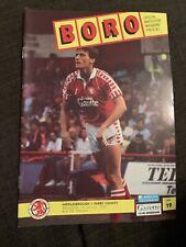 1992 Middlesbrough V Derby County Football Programme