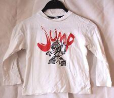 Okay Jump Pullover langärmliges Jungen Kinder Sweatshirt Weiß Größe 110 / 116