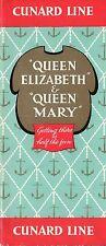 1950s 00004000  Queen Mary & Elizabeth Interiors w/ 12 Color Photos