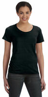 NEW Anvil Women's Sheer Scoop Featherweight Short Sleeve T-Shirt M-391A