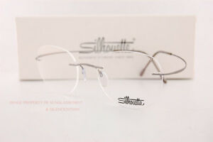 New Silhouette Eyeglass Frames TMA Must Collection 5515 CN 7110 Grey Titan 48