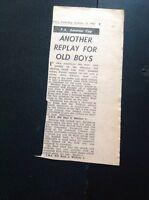 M5-8 Ephemera 1967 Football Report C N S Old Boys 1 Whitton 1