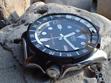 THE-TSUNAMI-ONE MATT BLACK CUSTOM BEZEL FOR SEIKO SKX007 7S26 - 020 DX-03-B