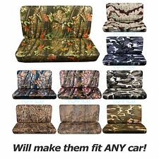 Camo Bench Seat Covers Car/Truck/Van/SUV 60/40 40/20/40 50/50 w Console/Armrest