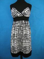 1676c1f3607 Dress Cotton Womans 10 Black White Summer Size Spring Lightweight Cato Date