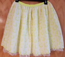 New Gap Kids Girls Coral Eyelet Scalloped Tulle Lime Green Skirt XXL Sz 14-16