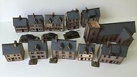 11  x 15mm Normandy PREPAINTED BUILDING KITS