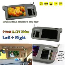 9 inch Car Left&Right TFT LCD Monitors Sunvisor Media Screen For DVD/VCD/GPS/TV