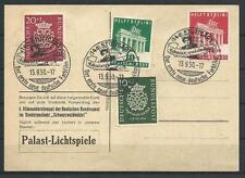 """BRD 121-122 & Bizone 101-102, Farbfilm-Werbekarte """"Schwarzwaldmaedel"""" #l664"""