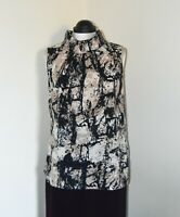 Paul Costelloe Brand New Patterned Sleeveless Top With Roll Neck ~ Size S BNWT