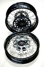 "Honda CRF250L/M/Rally supermoto motard full wheelset 17""x3.5"" 17""x4.5"" with disc"