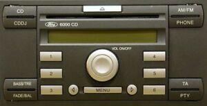 Ford 6000 CDDJ CD Radio Refurbed Unit Focus Fiesta Transit + Code Warranty &Keys