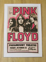PINK FLOYD : PARAMOUNT THEATRE  : A4 REPRODUCTION CONCERT POSTER