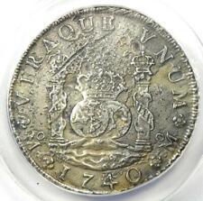 1740-MO MF Mexico Pillar Dollar 8 Reales Coin (8R) - Certified ANACS AU50 Detail