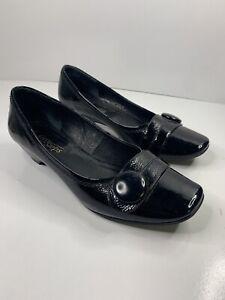 LADIES EASY STEPS  SHOES (PRIDE) - Black Leather - SIZE  7.5C