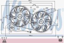 Nissens 85483 Ventola radiatore FORD MONDEO D III 00