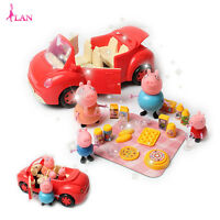 Peppa Pig George Family Picnic Car Set Figures Slide Kids Play Toy Game Gift
