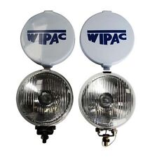"CLASSIC MINI WIPAC CHROME 5 1/2"" FOG LAMPS S6078 AUSTIN MORRIS COOPER ROVER PAIR"