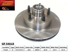 Disc Brake Rotor-RWD, 2-Wheel ABS Front Best Brake GP54018
