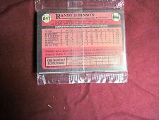 VERY RARE 1989 TOPPS BASEBALL SEALED RAC PAC * RANDY JOHNSON RC # 647 ON BACK