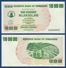 SIMBABWE / ZIMBABWE 100.000.000 Dollars 2008 UNC  P. 58