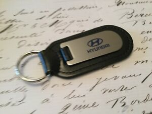 HYUNDAI Key Ring Etched and infilled On Leather
