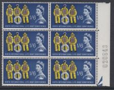 GB EII 1963 Lifeboat Conference 1/6 PHOSPHOR block of six sg641p