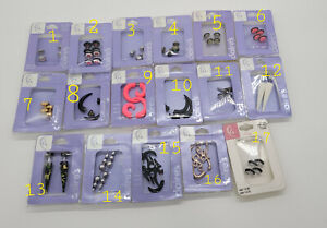 Various Claire's Faux Fake Plugs Earrings Stainless Steel Gauges NEW
